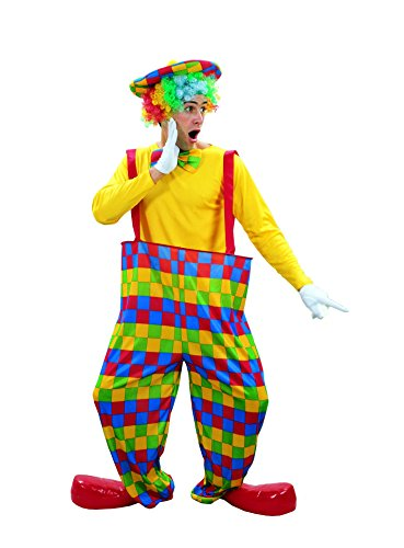 Ridere e coriandoli - Fiaclo 002 - Per Costume adulto - Clown Pantaloni D'arc-en-ciel