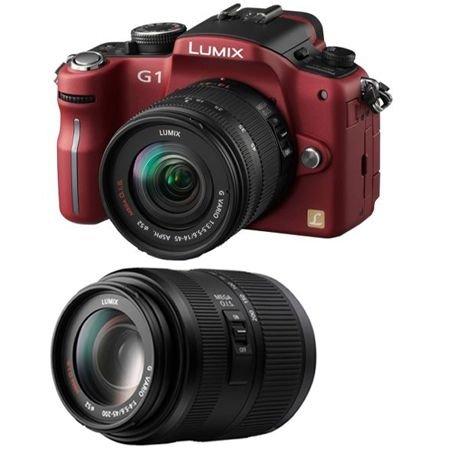 Ukdapper - Panasonic Lumix Dmcg1 Red Twin Kit 12mp Digital Slr Camera