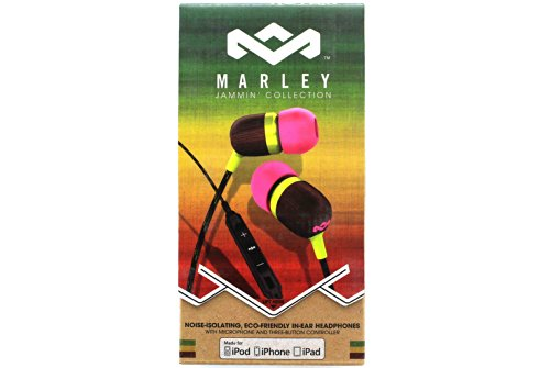 House Of Marley Em-Je003-Li Smile Jamaica Lily In-Ear Headphones With Apple Three-Button Controller