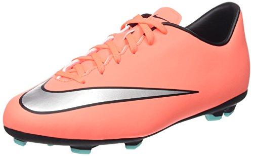 Nike Jr Mercurial Victory V Fg, Scarpe da Calcio Allenamento Unisex Bambini, Multicolore (Brght Mng/Mtllc Slvr-Hypr Trq), 38 EU