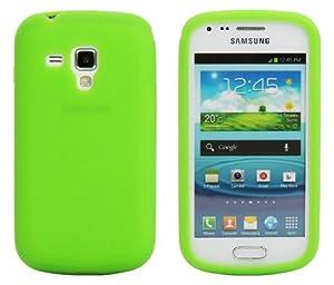 Luxburg® Housse Etui Coque Samsung Galaxy S Duos silicone case TPU Vert clair / vert