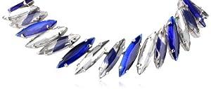 """nOir Jewelry Chrysler Oval Necklace, 16.5"""""""