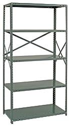 Steel Shelving Unit Open Clip 20 Gauge Ironman 6 Shelves 15 x 42 x 75 GRAY