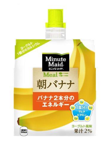コカ・コーラ ミニッツメイド 朝バナナ 180gパウチ×6個