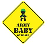 army baby on board funny vinyl decals bumper stickers