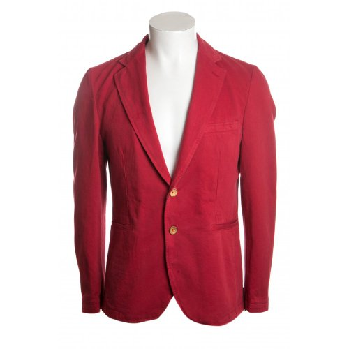Remus Uomo mens fino slim fitting washed cotton jacket in red 42 R
