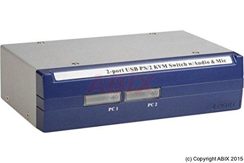 Dexlan Switch KVM 2 ports combo VGA USB/PS2 + Audio