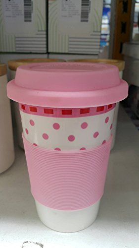 Ceramic mugs With Silicone Lids. The Captured Heat Silicone Pink 420 ml. ml. (Bronze Straw Dispenser compare prices)