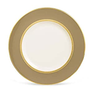 "Lenox Desert Vista Ivory China Gold Banded 9"" Accent Plate"