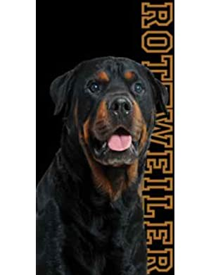 Rottweiler Dog Beach Towel