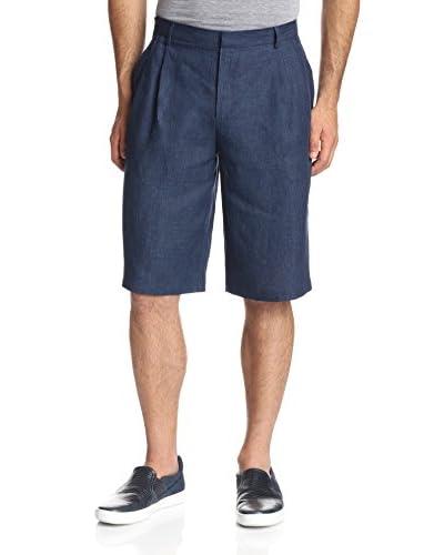 Rochambeau Men's Linen Delavé Pleated Shorts