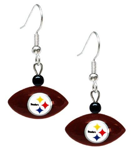 NFL Pittsburgh Steelers Mini Football Dangler Earrings