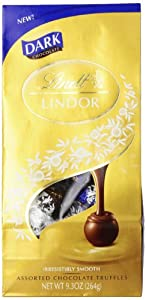 Lindt LINDOR Assorted Dark Chocolate Truffles, 9.3  Ounce