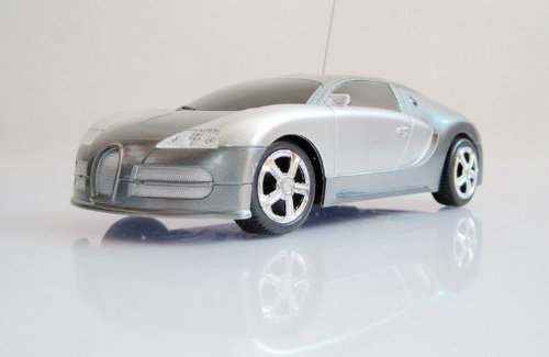 1:24 Bugatti Remote Control Car/car Model with Headlight Toy-silver