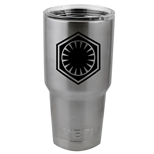 "The First Order Galactic Empire Imperial Logo Vinyl Sticker Decal for Yeti Mug Cup Thermos Pint Glass (4"" Wide - DECAL ONLY, NO CUP)"