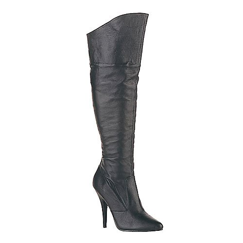 Pleaser Boots Women's SEDUCE-2013 5 Pull On Leather Knee Boot 1/2 Side Zip Available in 4 Colors