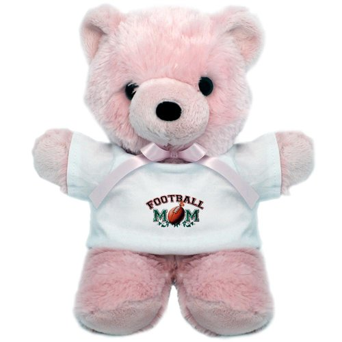 Teddy Bear Pink Football Mom with Ivy