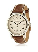 Montblanc Reloj de cuarzo Man 108762 Marrón 39 mm
