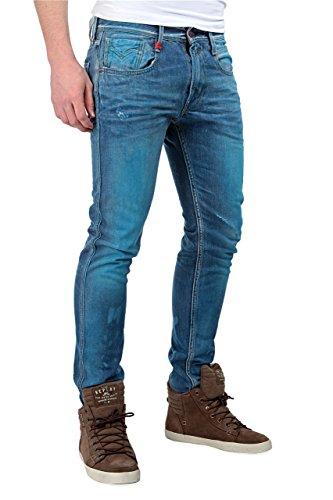 Replay Jeans Stretti ANBASS, uomo, Colore: Blu, Taglia: 36/32