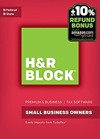 H&R Block Tax Software Premium & Business 2016 Win + Refund Bonus Offer