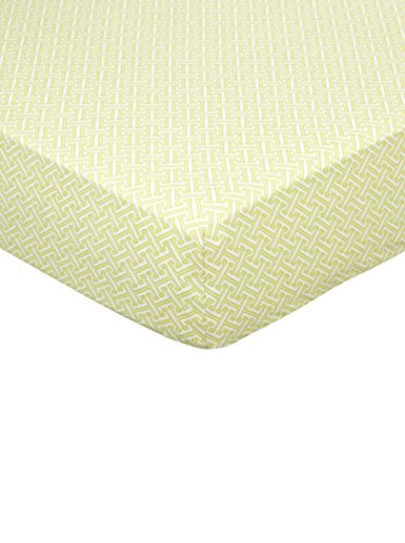 Lolli Living Animal Tree Fitted Sheet, Green Labyrinth