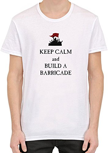 Keep-Calm-And-Build-A-Barricade-Camiseta-Hombres-Mujeres-Medium