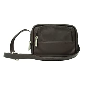 Piel Leather Traveler's Camera Bag, Chocolate, One Size
