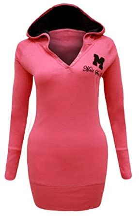 CANDY FLOSS NEW LADIES HOODED LONG SLEEVE 'MISS SEXY' WOMENS T SHIRT HOODIE FUSCHIA SIZE 8