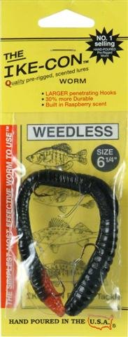 Review: Ike-Con Weedless Worm Fishing Lure, 6-1/4-Inch, Black Strawberry  Best Offer