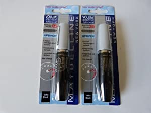 Mascara x 2 MAYBELLINE - Volume Express - Turbo Boost x 5 Waterproof Turbo Noir - 98.5ml - Emballé