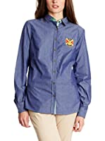 POLO CLUB Camisa Mujer Gentleman Horse Jeans (Azul)