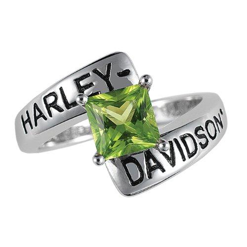Sterling Silver Harley-Davidson Ladies Crossroads Birthstone Ring - August Peridot
