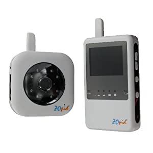 Zopid Interference Free Audio/Video Baby Monitor with Night Vision and Voice Alert