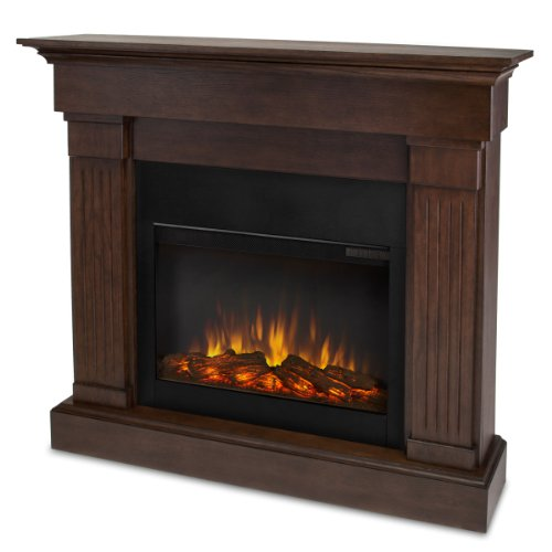 Real Flame Crawford 8020-X-Co Slim Line Electric Fireplace In Chestnut Oak - Mantel Only