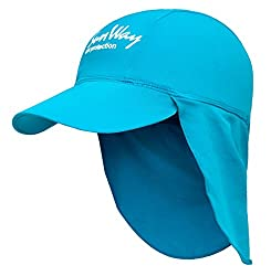 SunWay Baby Kids Girls Boys Light Blue Legionnaire Hat Cap UV protective (UPF 50+) (Kids)