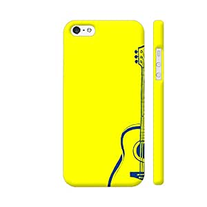 Colorpur Guitar On Yellow Designer Mobile Phone Case Back Cover For Apple iPhone 5 / 5s | Artist: Miraculous