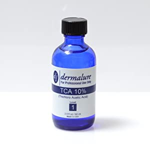 Trichloroacetic Acid - TCA Peel 10% Medical Grade 1oz. 30ml (Level 1 pH 1.5) brought to you by Dermalure