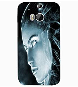 ColourCraft Scary Girl Design Back Case Cover for HTC ONE M8