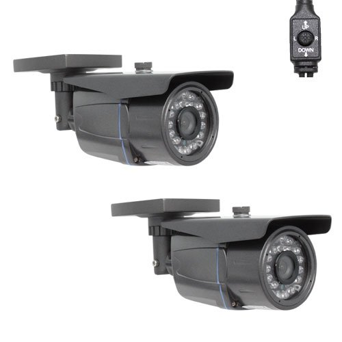 """(2) Pack Of Professional 1/3"""" Sony Effio Ccd 700Tvl Security Outdoor Camera - 700 Tv Lines, 3.6Mm Wide Angle Lens, 26Pcs Ir Led, Osd Menu, Wdr (Wide Dynamic Range)"""