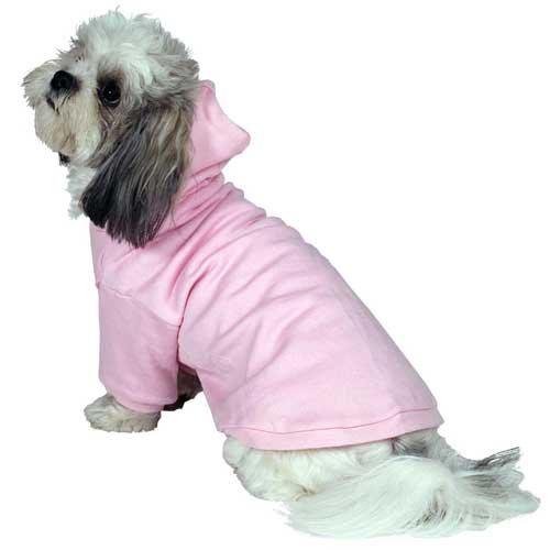 Custom Dog Hoodies Customized Design Your Own Dog Hoodie Light Pink front-586948