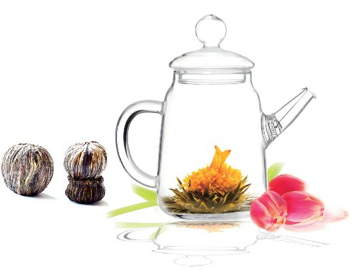 Lowest Prices! Tea Beyond Premium Flowering tea Solo giftset GFS2019 including teapot Solo and 1 pac...