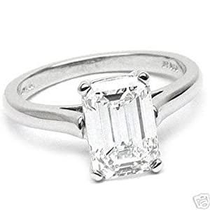 5.24 carat EMERALD Diamond Engagement Ring