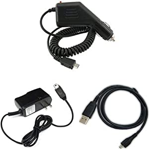 HTC Inspire 4G Combo Rapid Car Charger + Home Wall Charger + USB Data Charge Sync Cable for HTC Inspire 4G