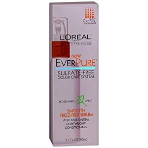 L'Oreal EverPure Smooth Frizz-Free Serum, Rosemary Mint 1.7 oz (50 ml)