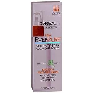 L'Oreal EverPure Smooth Frizz-Free Serum, Rosemary Mint 1.7 oz (50 ml)