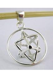 Sterling Silver Kabbalah Merkabah Pendant (Merkaba)