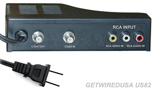 RF MODULATOR RCA COAX CABLE ADAPTER TV AV COAXIAL CONVERTER BOX AUDIO VIDEO, RCA IN-PUT COAX OUT-PUT. GETWIREDUSA US82R (Av Rf Modulator compare prices)