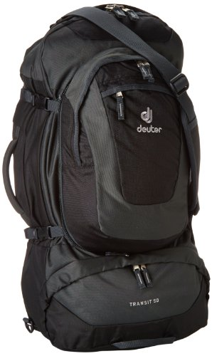 B001UEVRMK Deuter Transit 50 (Black/Anthracite)