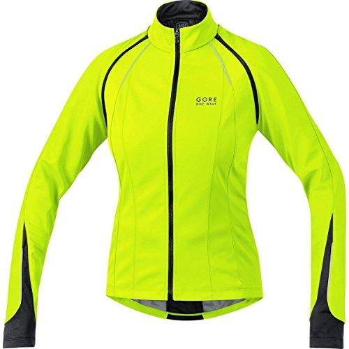 GORE BIKE WEAR, Giacca Ciclismo su strada Donna, 3 in 1, Versatile e calda, GORE WINDSTOPPER Soft SHELL, PHANTOM LADY 2.0 WS SO, Taglia 40, Giallo/Nero, JWPHAL089905