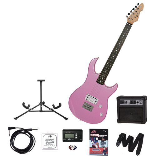 Peavey Electronics 00569270 Rockmaster Guitar Stage Pack, Pink